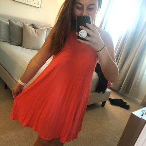 High Neck Orange Old Navy Dress